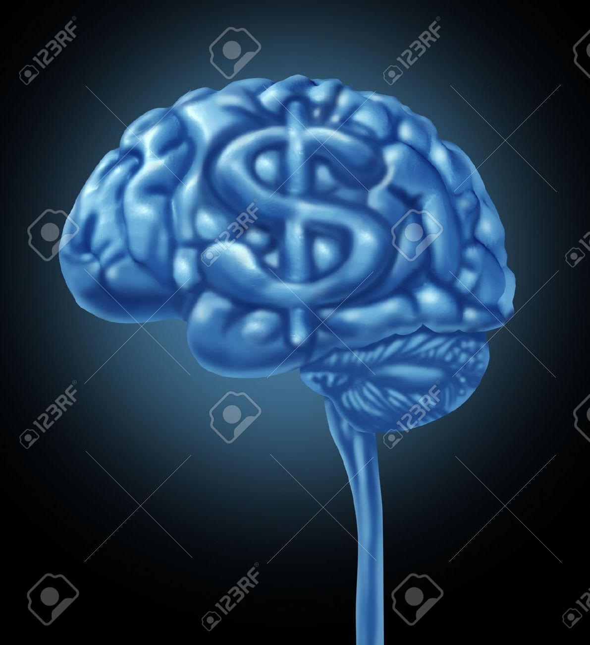 21492065-Financial-brain-business-concept-with-a-human-thinking-organ-and-a-dollar-symbol-integrated-in-the-g-Stock-Photo